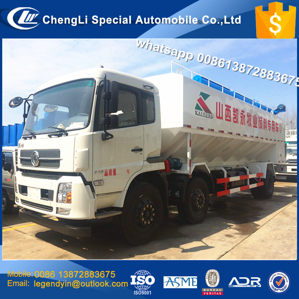 CLW large volume DF 6x2 30cbm 15tons bulk feed discharge truck for sale with factory price and good discount