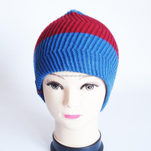 China suppliers wholesale customized acrylic wool blend beanie knitted wool hat