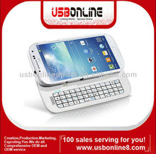 Sliding Detachable Bluetooth Keyboard Case for Samsung Galaxy S4 i9500 white