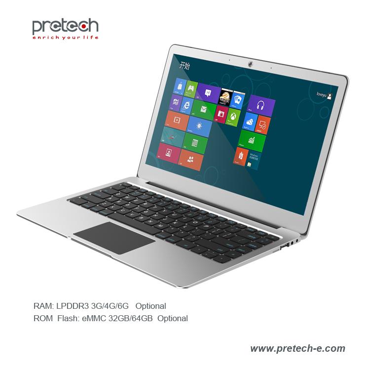 "13.3"" Cherry Trail Z8350 ultrabook windows 10 OS Intel laptop"