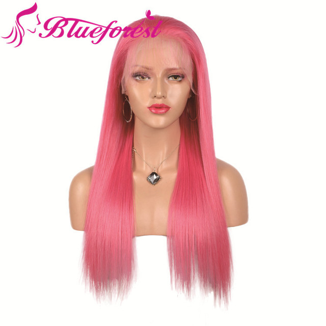 china pink ombre u part wig human hair