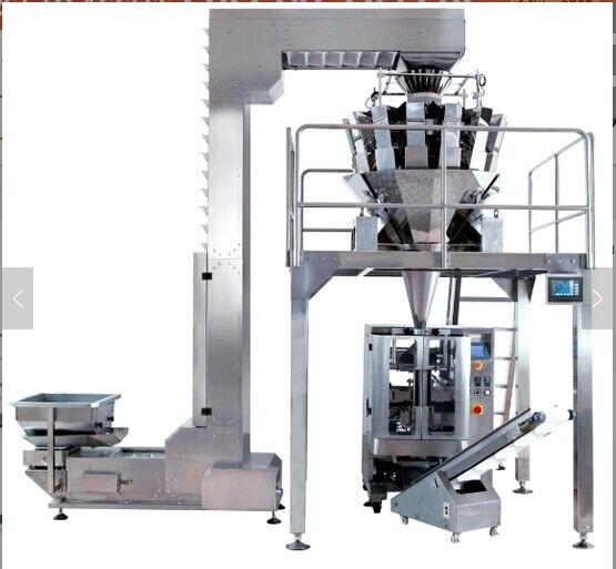 CE Certified vertical granular packing machine with multihead weigher