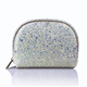 Custom Glitter PU Leather Makeup Bag Women Organizer Cosmetic Bag
