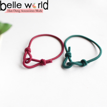 Korea rope Candy-colored rubber band Korean sailors knot string unique hair bands wholesale
