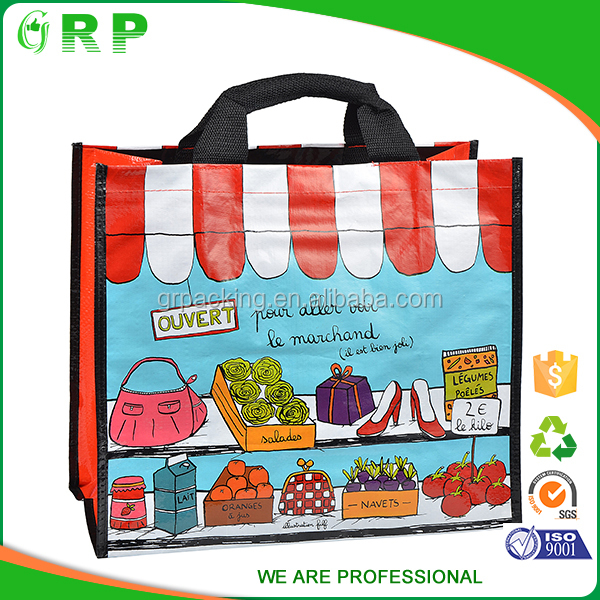 ISO/BSCI Sale factory foldable large size grocery pp woven shopping bag