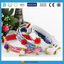 Wholesale Lace Dog Collar Luxury Fashion Pet Collar Beaded Floral Pet Collar For Puppy Dog
