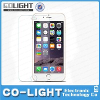 12 months warranty in stock ! 9h 0.33mm anti fingerprint tempered glass screen protector for iphone 6 plus
