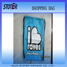 customized promotional cheap polyester drawstring shopping bag