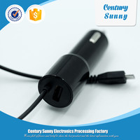 Brand New Cellphones Micro USB Cable Car Charger with USB Output
