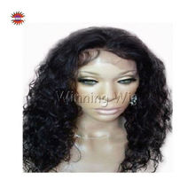 Beautiful long hair curly african american full lace wigs with baby hair about 20""