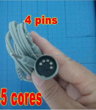 Electrode Lead Wires D5P Plug 4 Pin Connection Cables for Digital Massage TENS EMS machine