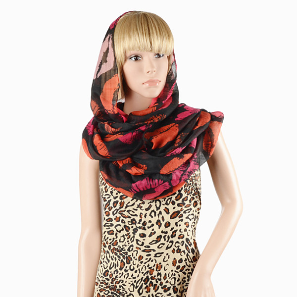 Fashion lady single color infinity scarf circle tube caps hijab muslim