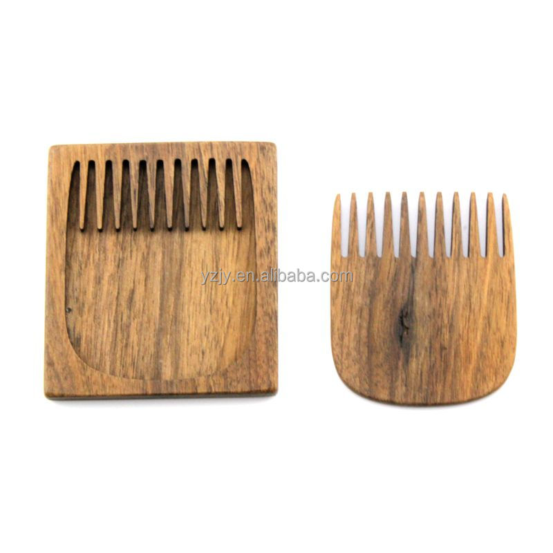 Whole sale small portable make-up walnut wood comb without the static for lady and man