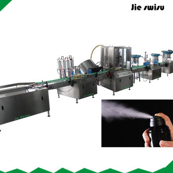 Automatic Body Spray, Perfume Aerosol Deodorant Filling Machine