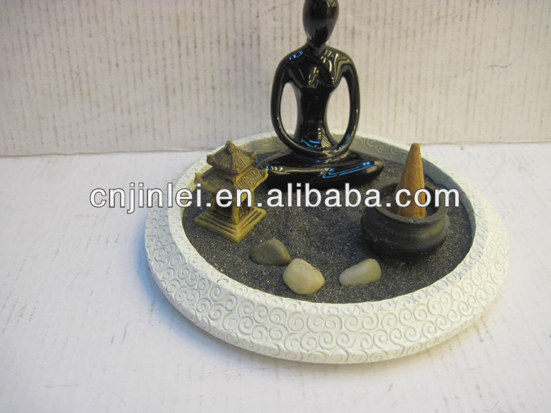 2013 resin Zen Meditation Rock Garden Set Relax