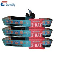 Promotional Secure Plastic Lock Clasp Wristbands+Laser Numbered+Printing Name+Encoding Wristbands