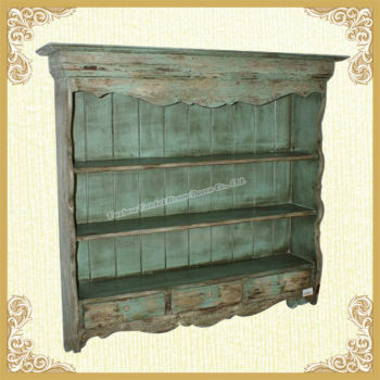 French country style wooden wall shelves with drawers for French country shelves