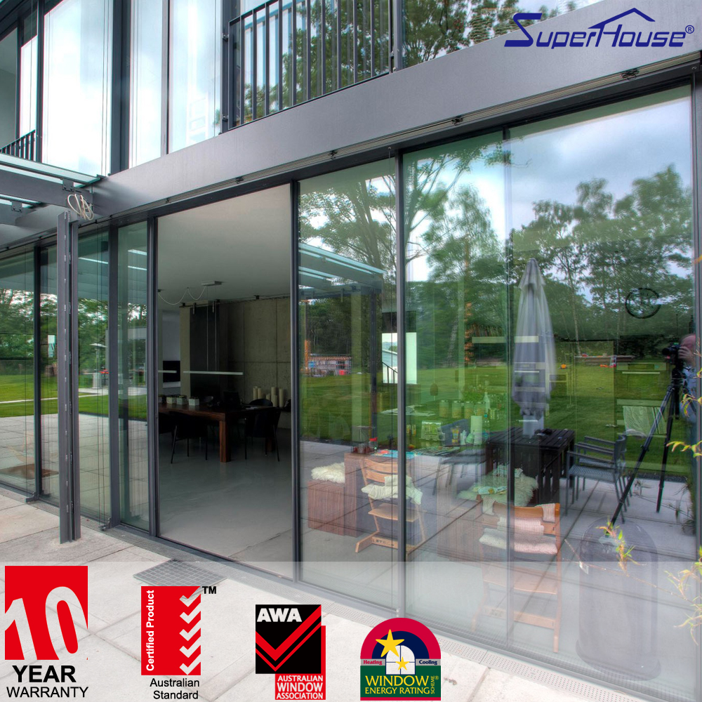 Superhouse interior commercial automatic sliding glass doors