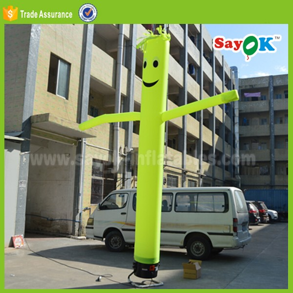 sky dancer blower inflatable tube man air dancer costume for sale