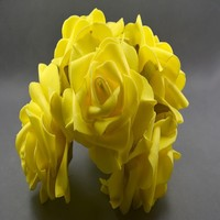 wholesale price artificial 7.5cm colourfast foam rose flower
