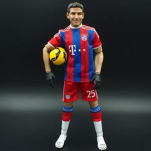 oem action figure 1/6 scale pvc miniature soccer player figure for display