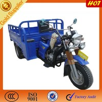 Ducar Gasoline three wheeled motorcycle with hooper /3 wheel can cargo truck