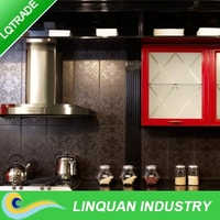 Kitchen coasted Stainless steel color aluminum composite panel for interior decoration