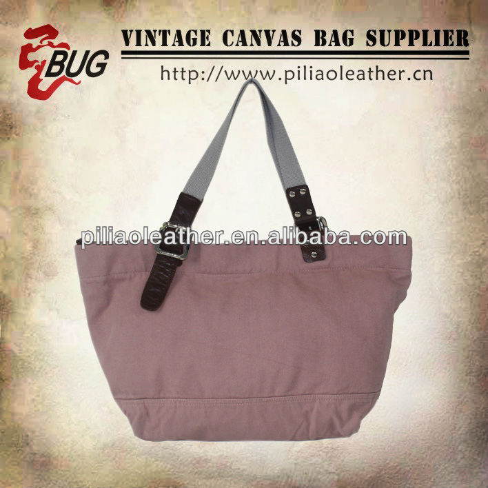 Hot selling Pink Canvas Tote Bag/Beach Bag
