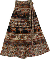 Long Wrap Skirt Organic Cotton Long Wrap Skirt Made in India