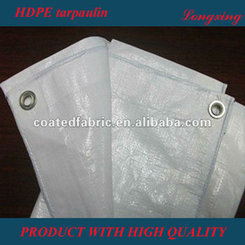 HDPE tarpaulin with pp rope reinforced