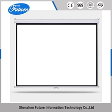 Ex-Factory Price OEM ROHS wall projector pull up projection screen frame