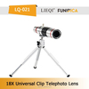 2015 LIEQI LQ-021 Fancy 18X telescope mirror universal clip zoom lens with tripod accept OEM for mobile phone