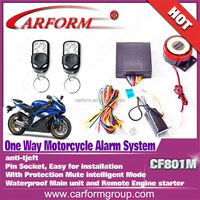 Auto parts DC 12V beret motorcycle alarm system with remote engine start