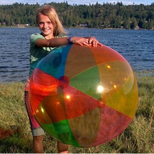 48 inch 12 panels Rainbow pvc inflatable big beach ball