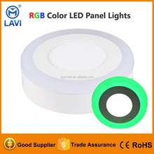 195mm 12+6W 18W side emitting smooth housing round surface mounted led panel light CE ROHS