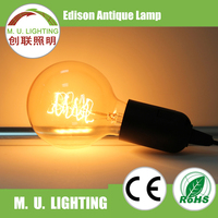 Classic glass G80 G95 G125 globe vintage lamp edison for decoration