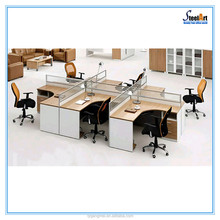Modern design staff wood cubicle office table partition