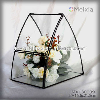 MX130009 tiffany art stained glass terrarium flower holder wedding decoration