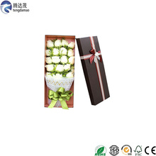 New Fashion romantic Valentine's day roses packaging box manufacturer custom card paper