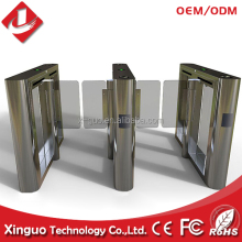 high quality flap turnstile high speed gate with RFID reader