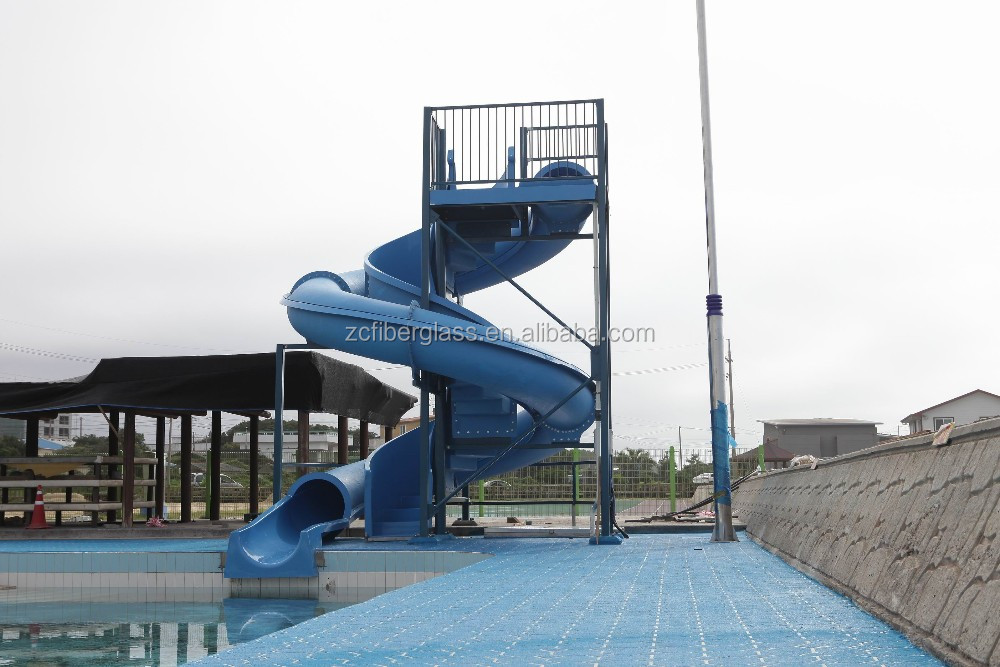 Quickly fiberglass close water slide pool slides for sale