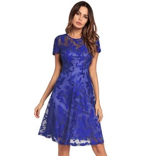 American Style Long Sleeve Casual Lace New Ladies Dress