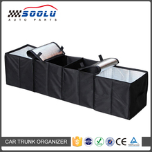 Folding Multi Compartment Fabric Car Truck Van SUV Storage Basket Trunk Organizer with cooler