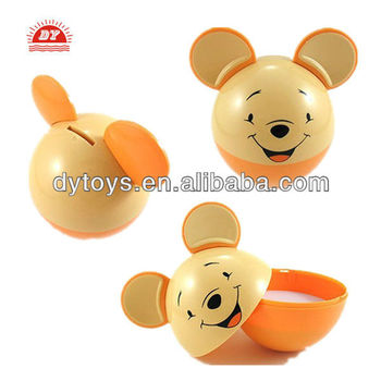 ICTI toy manufacturer custom make small novelty plastic piggy banks
