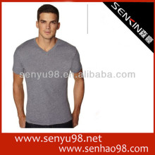 100 cotton custom printed v neck collar man t shirt