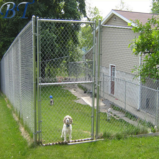 Waterproof Dog Kennel in Outdoor for Sale, Chain-Link Dog run fence