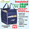 supermarket folding and reusable insulated shopping cart bag