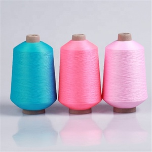 Dope dyed spun polyester yarn 75 36 dty polyester yarn sock knitting yarn