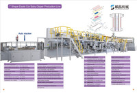 SC-NK600 Fully-servo Baby Diaper production line with auto-stackers