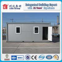 20ft prefabricated living container home with bathroom and kitchen